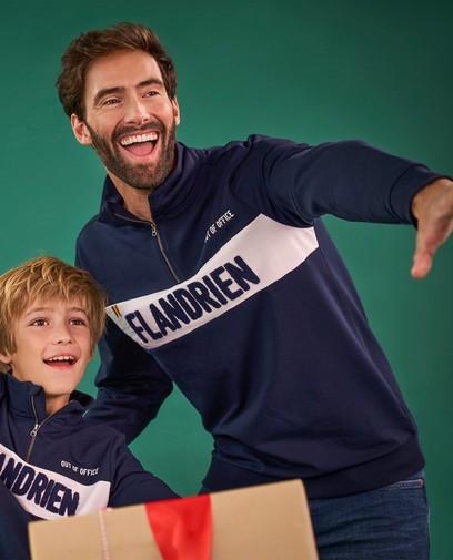 Blauwe sweater Baptiste