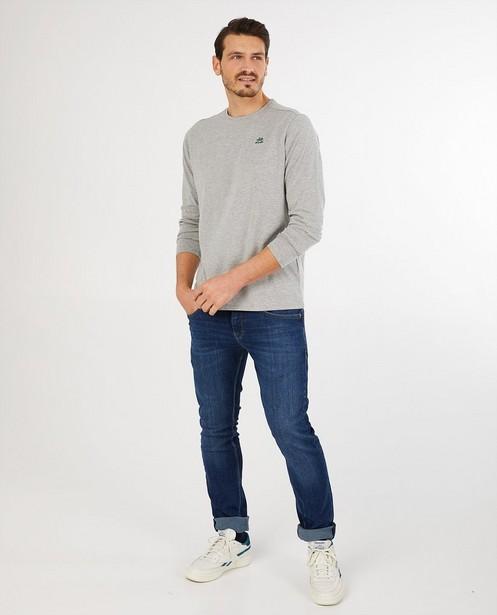 T-shirt gris à manches longues Baptiste - chiné - Baptiste