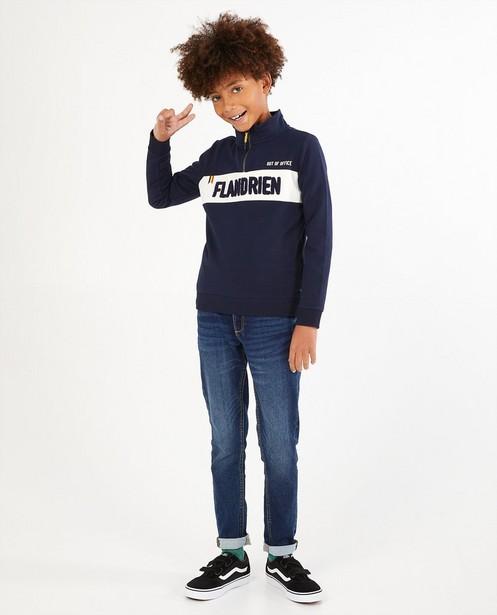 Sweat bleu Baptiste, 7-14 ans - «Flandrien» - Baptiste