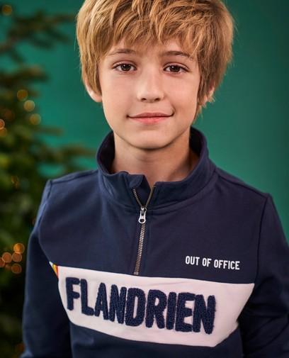 Blauwe sweater Baptiste, 7-14 jaar