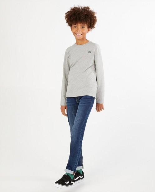 T-shirt à manches longues Baptiste, 7-14 ans - chiné - Baptiste