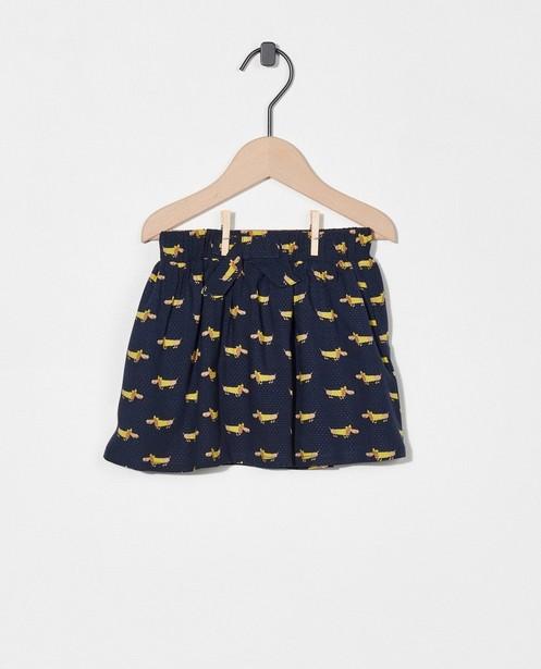 Donkerblauwe rok met hondenprint - allover - Cuddles and Smiles