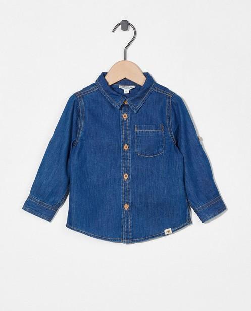 Blauw hemdje van denim - met oprolbare mouwen - Cuddles and Smiles