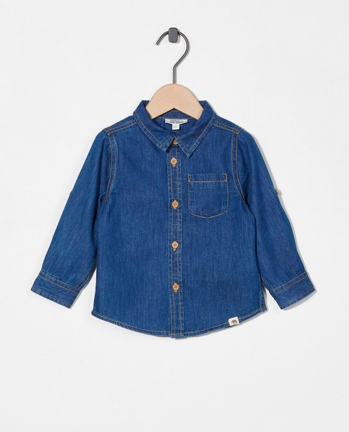 Chemise bleue en denim - à manches enroulables - Cuddles and Smiles