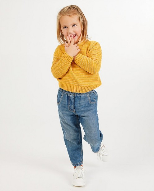 Pull jaune en fil chenille - en tricot - Milla Star