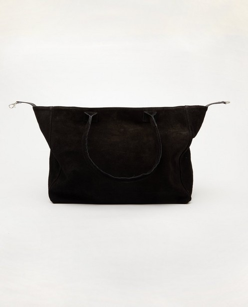 Sac à main noir en cuir véritable - genuine leather - JBC