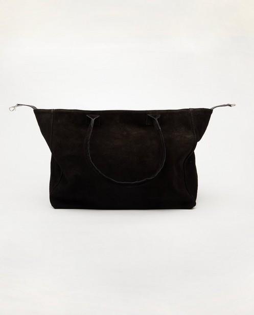 Zwarte handtas van echt leer - genuine leather - JBC