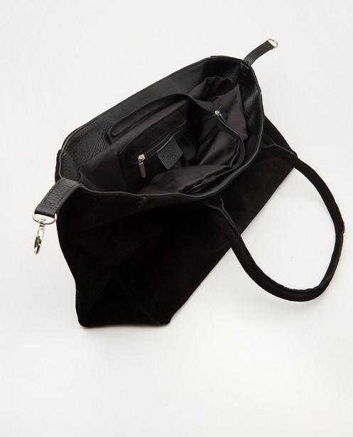 Handtassen - Zwarte handtas van echt leer