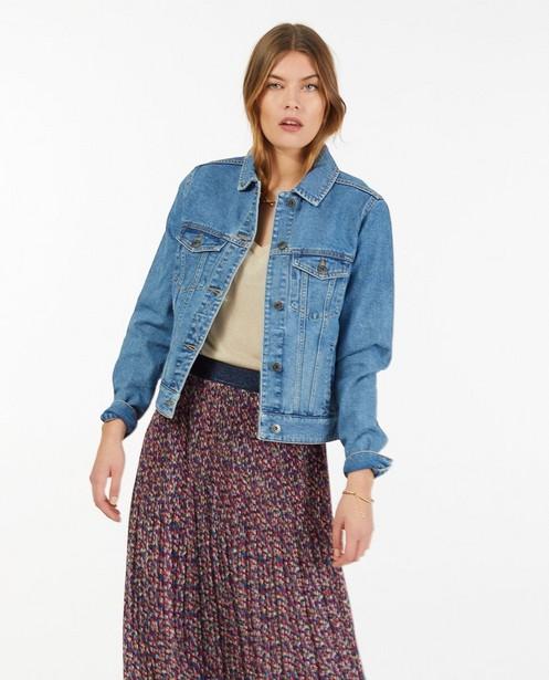 Veste bleue en jeans Sora - avec piqûres de séparation - Sora