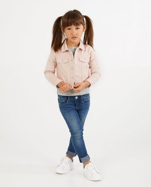 Roze jeansjasje - kort model - Milla Star