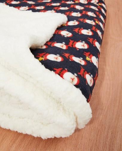 Fleece-deken met kerstprint
