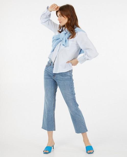 Wit hemd met strepenprint Sora - allover - Sora