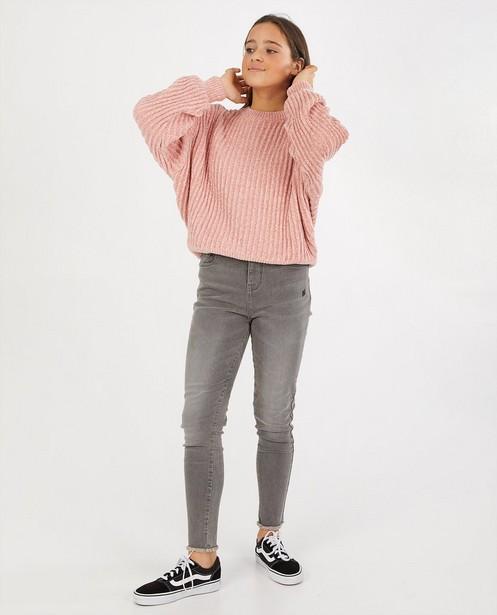 Roze trui van chenille - gebreid - Groggy