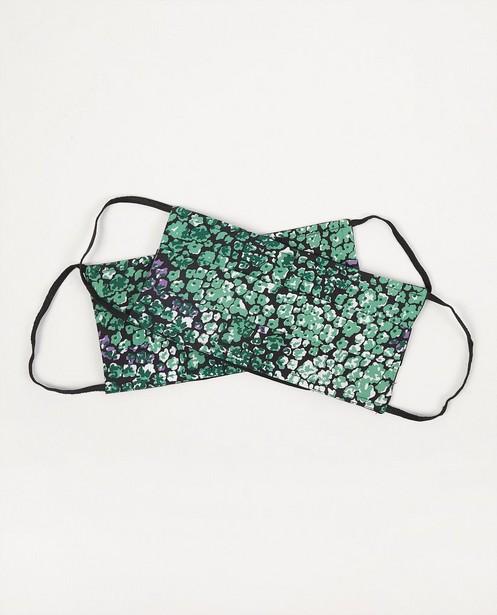2 mondmaskers met groene bloemen - set van 2 - Sora
