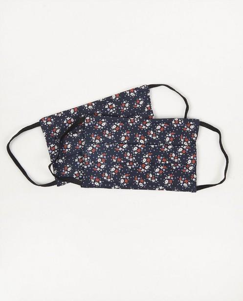 2 mondmaskers met bloemen - blauw - set van 2 - JBC