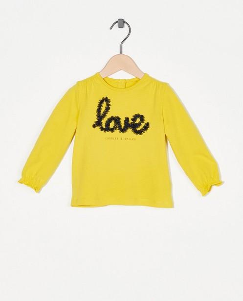 Gele longsleeve met print - van tule - Cuddles and Smiles