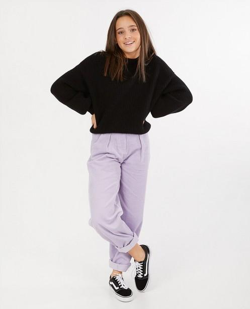 Pull noir - à motif tricoté - Groggy