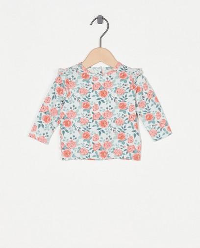 T-shirt à manches longues avec un imprimé fleuri