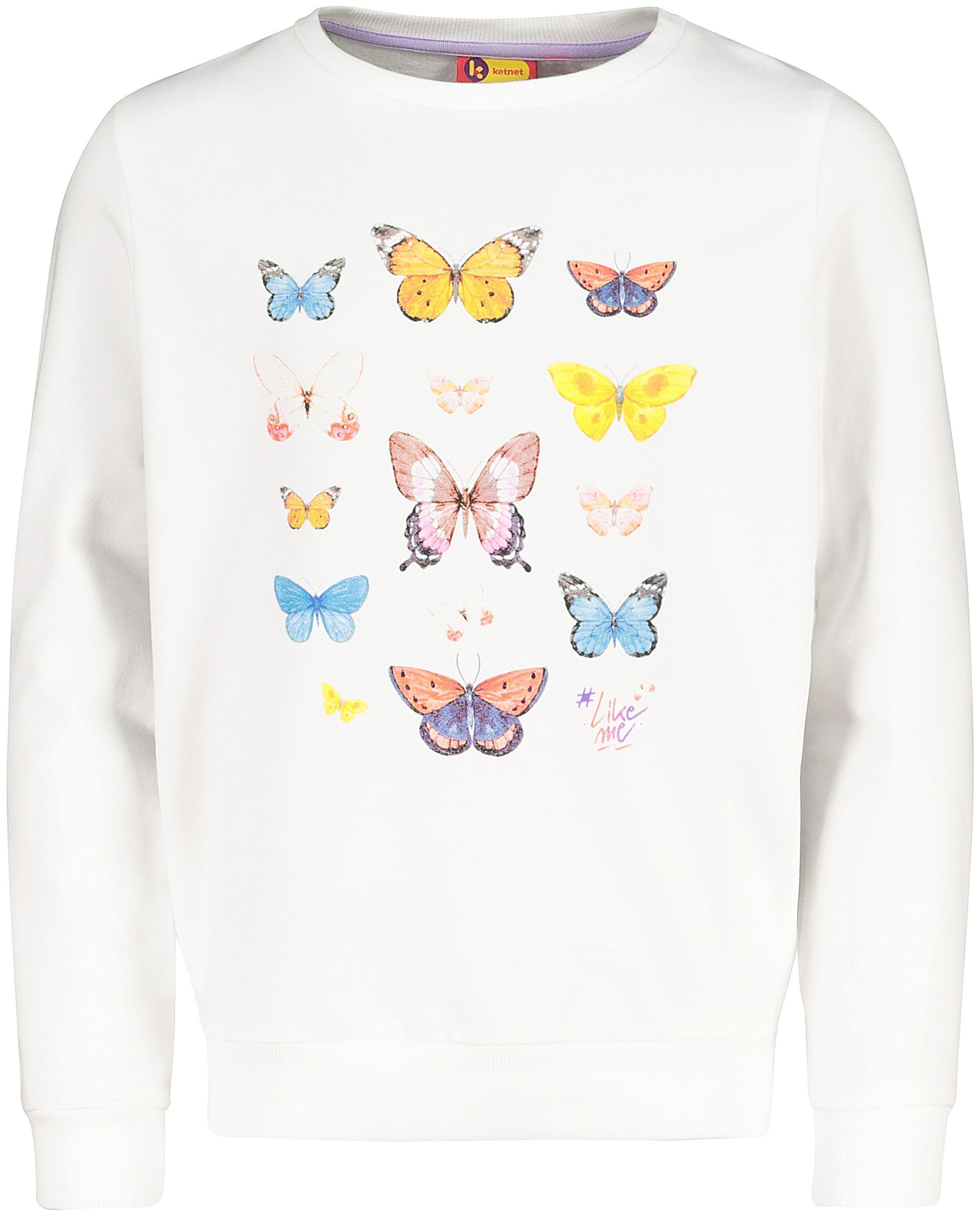 Witte sweater met print #LikeMe