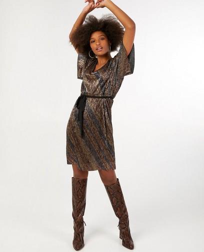 Zwarte jurk met glitter Youh!