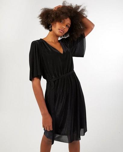 Zwarte jurk met knooplint Youh!