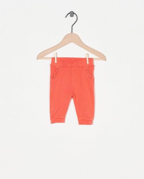 Pantalon rose avec des ruches - et petit nœud - Newborn