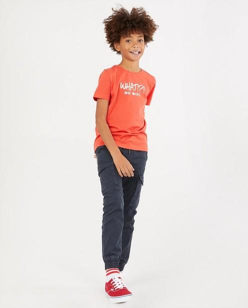 Rood T-shirt met print BESTies - stretch - Besties
