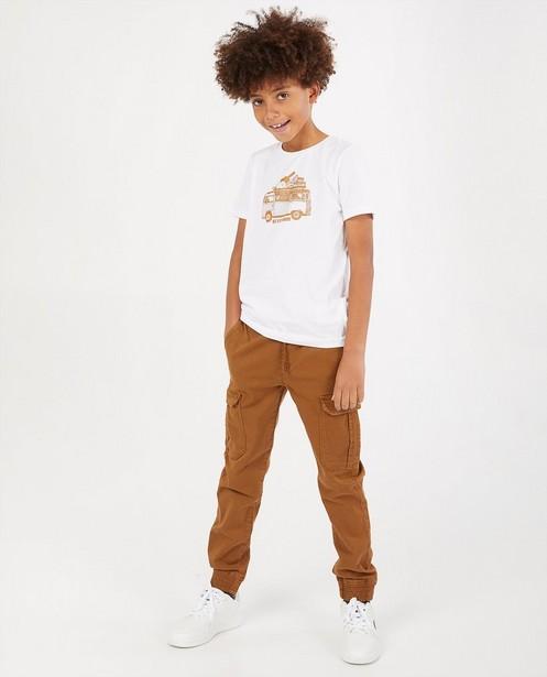 Wit T-shirt met print BESTies - stretch - Besties