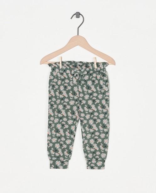Pantalon vert à imprimé fleuri - imprimé intégral - Cuddles and Smiles