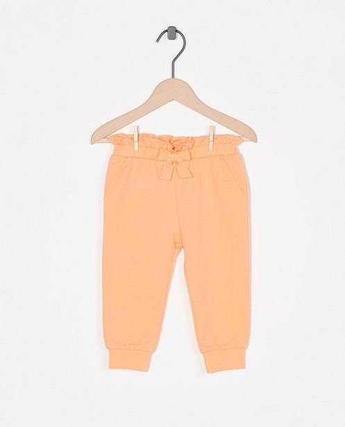 Oranje broekje van biokatoen - stretch - Cuddles and Smiles