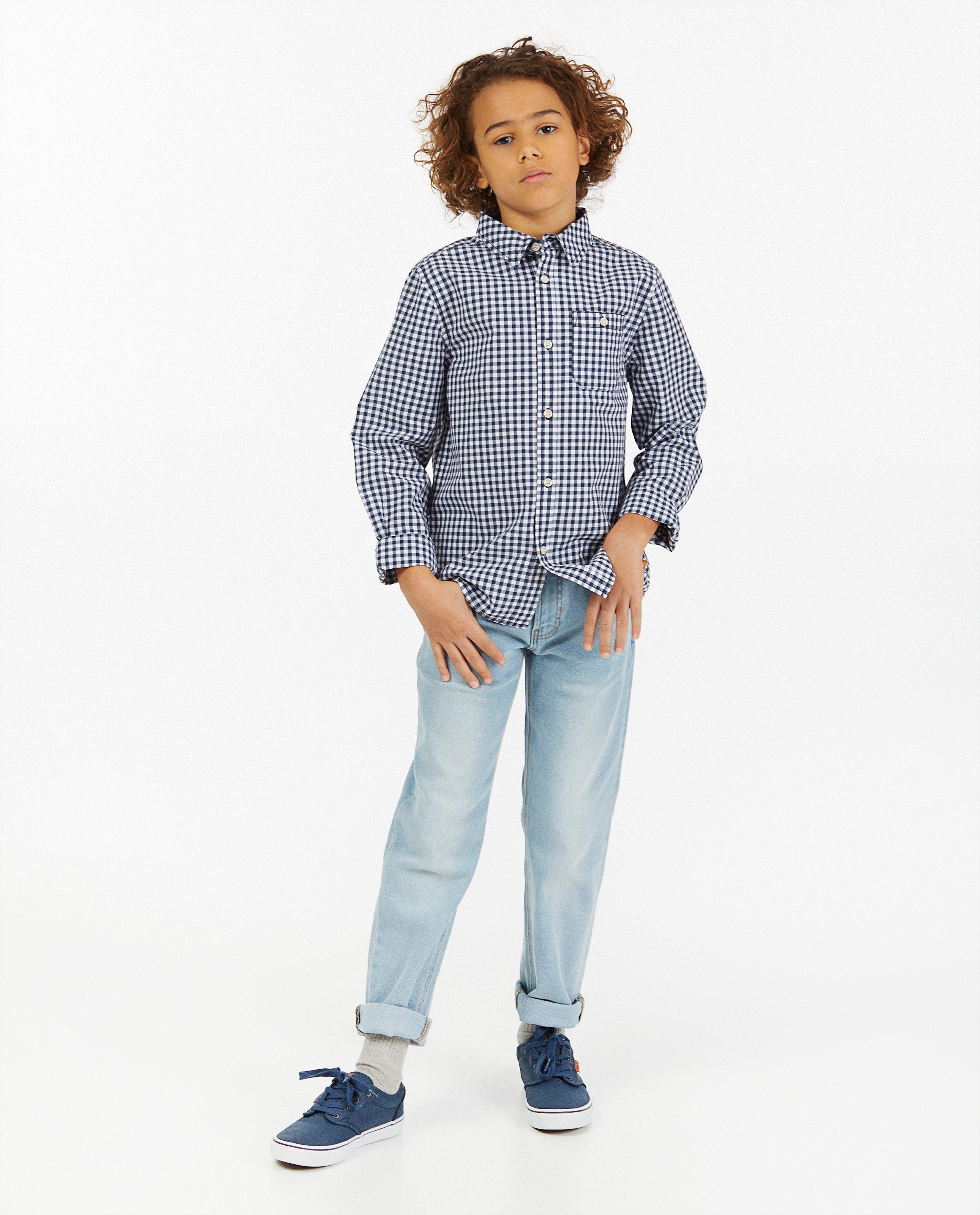 Chemise bleue à carreaux #LikeMe - intégral - Like Me