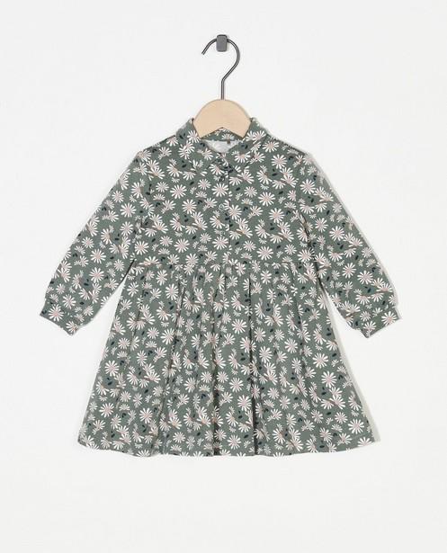 Groen jurkje met bloemenprint - allover - Cuddles and Smiles
