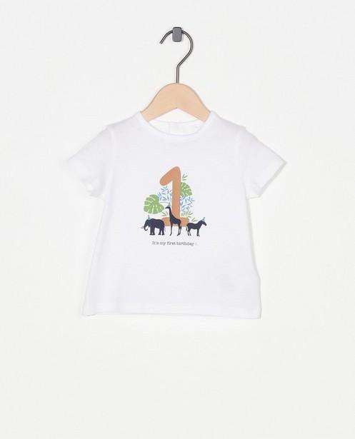 T-shirt «1er anniversaire» blanc AVA x JBC - à imprimé - Cuddles and Smiles