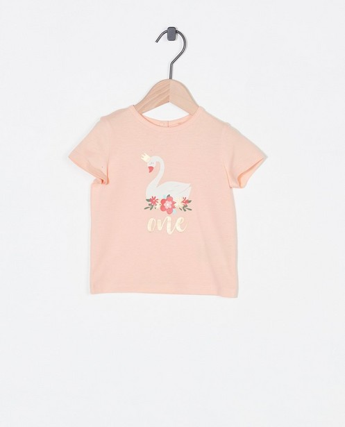 Verjaardags-T-shirt met print AVA x JBC - zwaan - Cuddles and Smiles