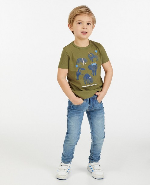 T-shirt vert imprimé AVA x JBC - stretch - Kidz Nation