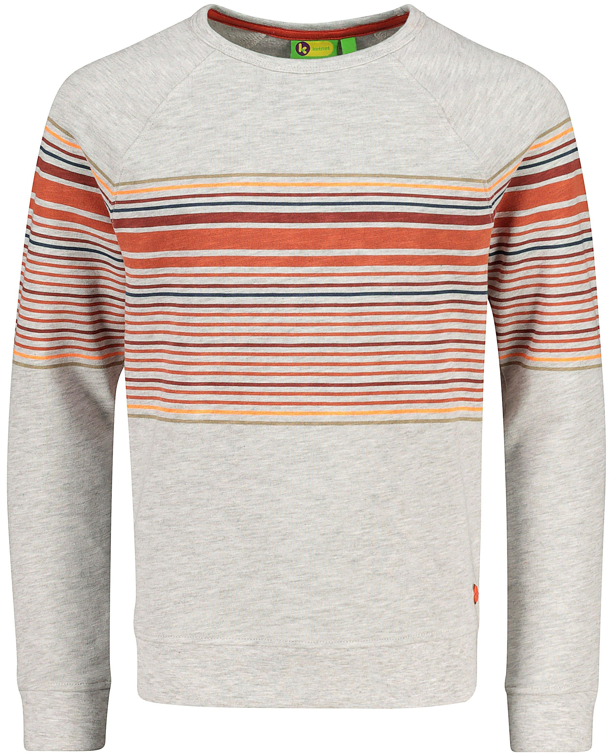 Lichtgrijze sweater met strepen #LikeMe