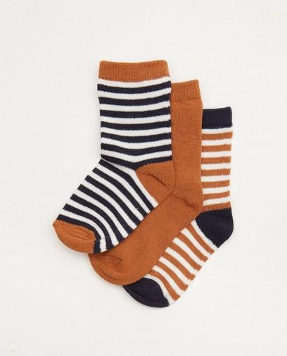Lot de 3 paires de chaussettes pour bébés brunes