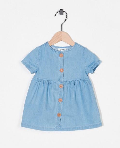 Blauw jurkje - doorknoopjurkje - Newborn