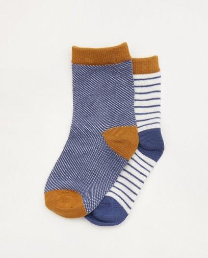 Lot de 2 paires de chaussettes pour bébés bleues