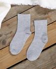 Chaussettes grises à paillettes - fil métallisé - JBC