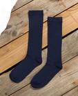 Chaussettes hautes bleues Communion - piqûres verticales - JBC