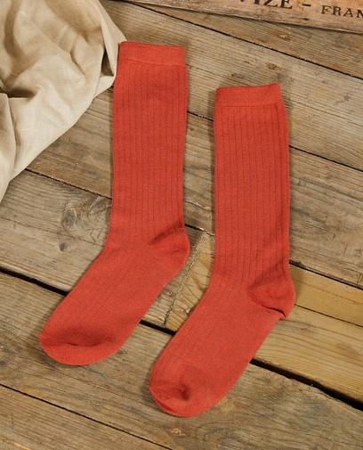 Chaussettes hautes couleur brique Communion