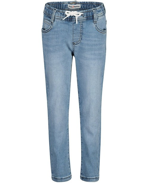 Lichtblauwe slim jeans Simon, 2-7 jaar - verstelbare taille - Kidz Nation