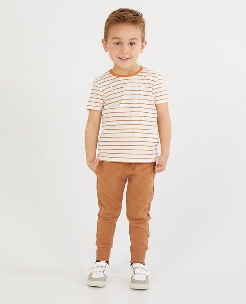 Wit T-shirt met strepen BESTies - stretch - Besties