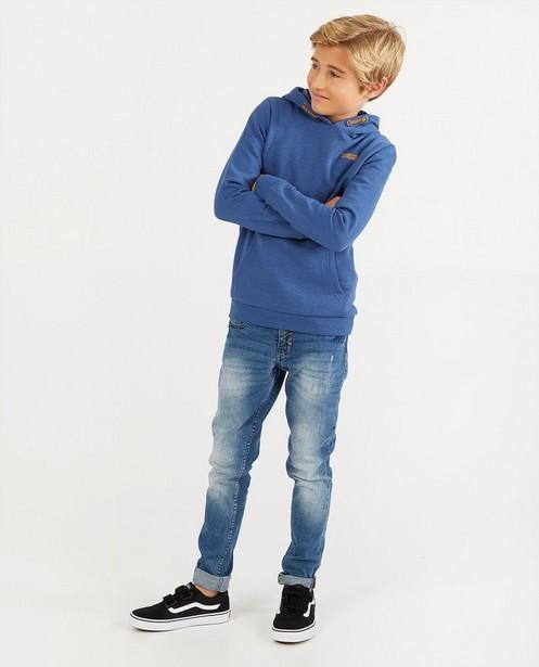 Hoodie bleu BESTies - en coton flammé - Besties