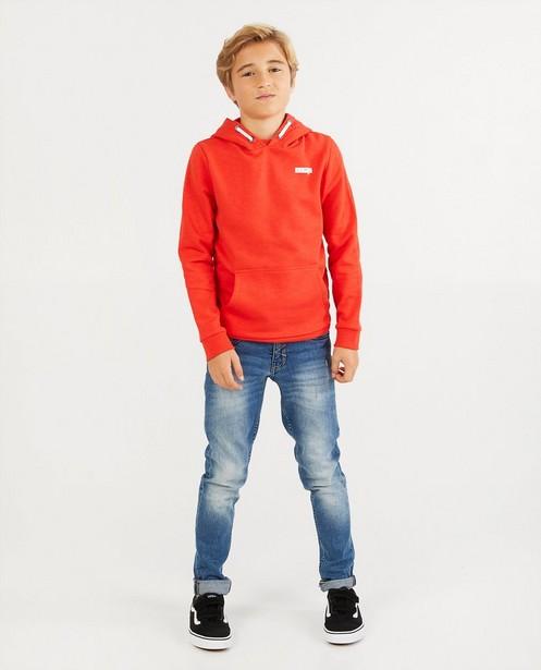 Rode hoodie BESTies - van gevlamd katoen - Besties