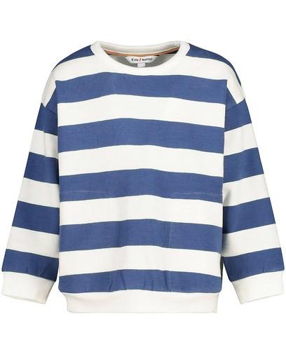Sweater met blauw en witte strepen