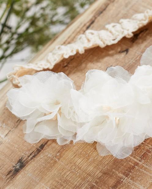 Bonneterie - Bandeau blanc avec des fleurs Communion