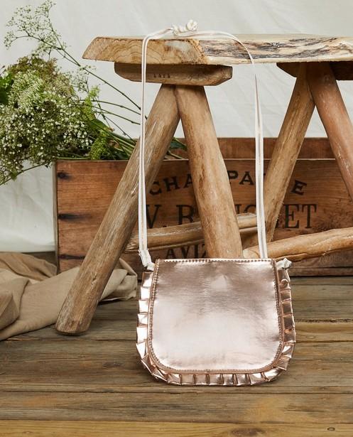 Handtasje in rozé goud Communie - met ruches - Milla Star