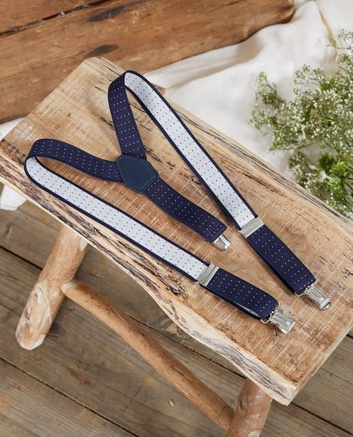 Bretelles bleues à pois Communion - imprimé intégral - JBC